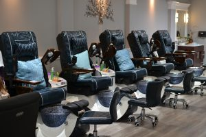 Jet spa pedicures with massage chairs