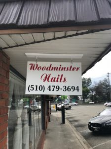 Woodminster Nail Business Sign